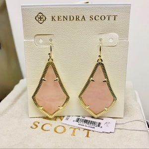 Kendra Scott Alex Rose Quartz drops earrings